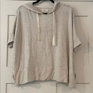 Lou & Grey - hooded short sleeve sweatshirt